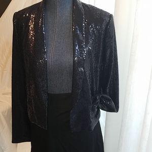 Sparkle the night away black blazer